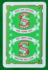 Playing Cards 1 Single Card Old SINGER SEWING MACHINES Advertising Art Design 2