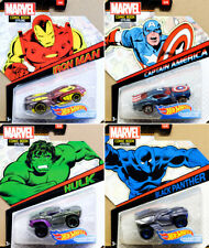 Marvel Comic Book Styling Character Cars 4 Models Avengers 1:64 Hot Wheels BDM71