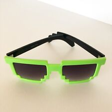 Black Green Minecraft Sun Glasses Block