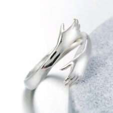 925 Sterlingsilber Damen Ring Ringe Hand Hände Dame Symbol Verstellbar Silber