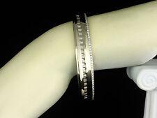 MAYORS BIRKS IDEAL NATURAL 1.06ctw DIAMOND 18K WHITE GOLD HINGED BANGLE BRACELET