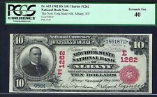 """NY 1902 $10 """"RED-SEAL"""" ♚♚ALBANY, NEW YORK♚♚ PCGS EXTREMELY FINE 40"""