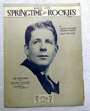 1929 SHEET MUSIC WHEN IT'S SPRINGTIME IN THE ROCKIES RUDY VALLEE #ff56