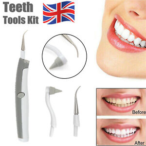 Electric Dental Tooth Stain Polisher Teeth Whitener Plaque Eraser Remover UK