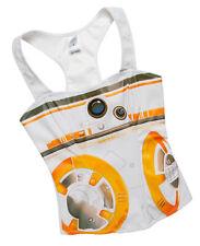 Star Wars BB-8 Sublimated Corset Boned Racerback White Orange Top Sz S + M