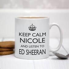 Personalised White Ceramic Mug - Keep Calm and Listen To Ed Sheeran