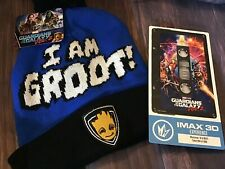 "Marvel Lot: Beanie ""I'm Groot"" And IMAX Collectors Ticket (804/1000) Set Bundle"