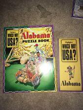 Which Way USA? Alabama W/ State Map Highlights
