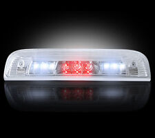 2014-2016 Chevy Silverado GMC Sierra Clear Rear Third Brake Light w/ White LED