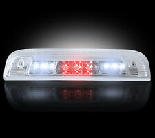 2014-2016 Chevy Silverado GMC Sierra Clear Rear Third Brake Light w/ White LED