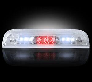 2014-2017 Chevy Silverado GMC Sierra Clear Rear Third Brake Light w/ White LED
