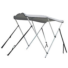 Portable Bimini Top Cover Canopy For Length 14 -16 ft Inflatable Boat (3 bow)