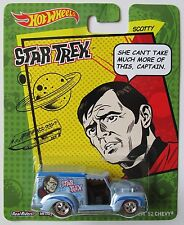 HOT WHEELS NOSTALGIA POP CULTURE STAR TREK SCOTTY CUSTOM '52 CHEVY Red Line Tire