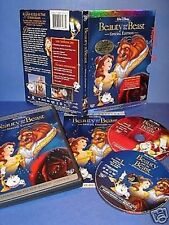 NEW Platinum Ed Walt Disney Beauty and the Beast 2 DVD Bonus Collector CD +ROM