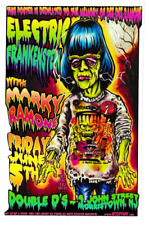 ELECTRIC FRANKENSTEIN VINYL STICKER JOHNNY ACE RAMONES LOWBROW PUNK MONSTER