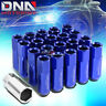 20 PCS BLUE M12X1.5 EXTENDED WHEEL LUG NUTS KEY FOR DTS STS DEVILLE CTS