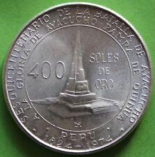 PERÙ 400 SUOLE DI ORO 1976 ARGENTO