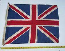 Vintage printed Union Jack flag 26 x 34 ins myref F