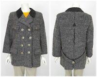 Womens Steinbock Tyrol Blazer Jacket Coat Alpaca Wool Grey Size D38 / UK12