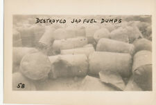 WWII 1940s  USA Photo #58 Destroyed Japanese Fuel Dump