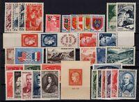 U140059/ FRANCE / 1949 COMPLETE YEAR / Y&T # 823 / 862 MINT MNH – CV 205 $