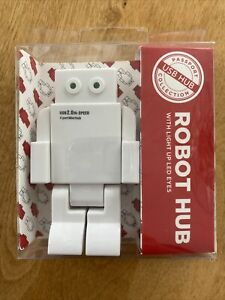 USB2.0 HUB ROBOT Hi-Speed 4 Port Hub with Light Up LED Eyes