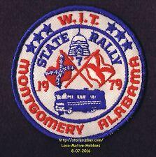 LMH Patch 1979 WINNEBAGO TRAVELERS Club RV Motorhome WIT W.I.T. Montgomery RALLY