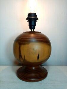 Vintage Hand Turned Wooden Lamp Base