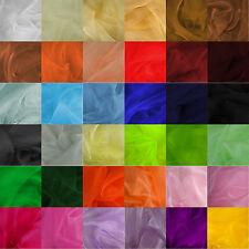 """Premium Crystal Sheer Organza Fabric Voile Curtain Material 59"""" Wide - Per Metre"""