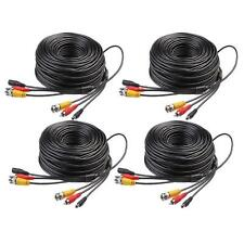 4 x 150ft BNC RCA CCTV DVR Audio Video Power Surveillance Cable Camera Cord Wire