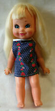"""Vintage 1972 Remco 12"""" Baby Doll Button in Back to Wave Hand to Say Hi"""