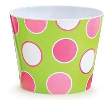 #6 Whooo's Cutest Pink & White Dot Print Melamine Pot Cover