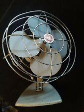 "Vintage 1950's GE 10"" inch Oscillating Desk Counter Top Fan"