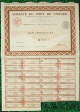 Maroc Epoque Coloniale & Paris I er - Rare & Déco Ste du Port de Tanger de 1922