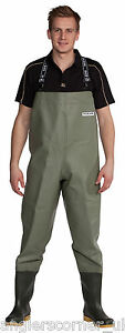 Ocean Classic Studded Chest Waders 600g PVC / 2-71 Fishing Chestwaders