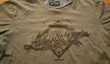 Armani Jeans AJ Graphic T Shirt Men's Medium M Gray Regular Fit Cotton MINT