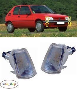 Pour Peugeot 205 1983 - 1997 Neuf Argent Clignotants Avant Répéteur Gauche+Droit