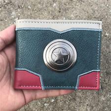 Captain America money clip Bifold Men Wallet Card Holder Coin Purse good quality
