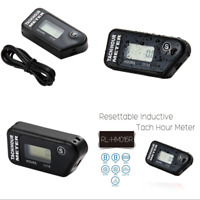 Digital Tach Hour Meter Inductive Tachometer For 2 / 4 Stroke Gas Engine Racing