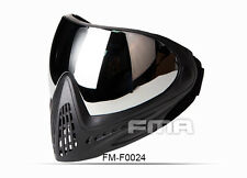 FMA Tactical Anti-fog Goggle Paintball Full Face Mask with Single Layer Mirror