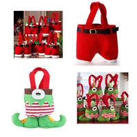 Hot Santa Pants Handbag Xmas Decor Wedding Candy//Gift Buckram Wine-Bag Christmas