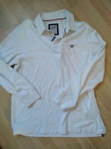 Crew Clothing Co Men's White Rugby Shirt (XXL)