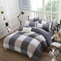 British Plaid Bedding Set Duvet Quilt Cover + Pillowcase Twin Queen King Size