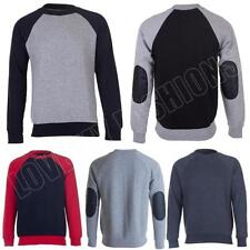 Fleece Unbranded Crew Neck Plain Hoodies & Sweats for Men