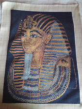 KING TUT, HAND MADE GOBLEN TAPESTRY,WALL HANGING, COMPLETE, EMBROIDERY