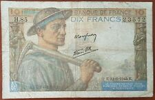 Billet 10 francs MINEUR 26 - 2 - 1944 FRANCE H.85