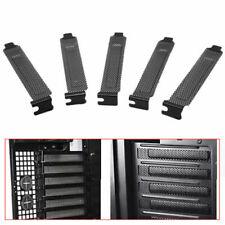 PCI Bracket Slot Cover Dust Black Steel Black metal case computer punching H0E7