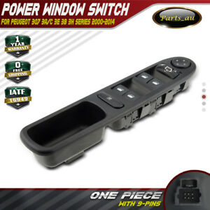 Master Power Window Switch for  Peugeot 307 2000-2014 Hatchback CC Wagon 6554.KT