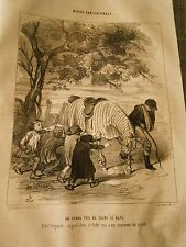 Litho 1843 - Magazine caricature A large price regard therefore ce bidet