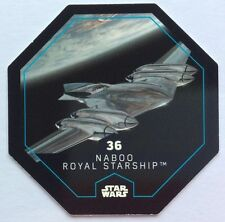 STAR WARS Jeton 36 NABOO ROYAL STARSHIP Cosmic Shells E.Leclerc Collector Image